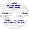 1970 Build Sheet Decoder